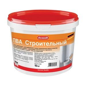 Клей ПВА Pufas Decoself cтроительный пластификатор (10 кг)