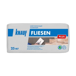 Клей для плитки усиленный Knauf Fliesen Plus, 25 кг