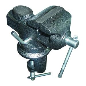 Тиски настольные Biber 85887 Профи поворотные с наковальней 65 мм