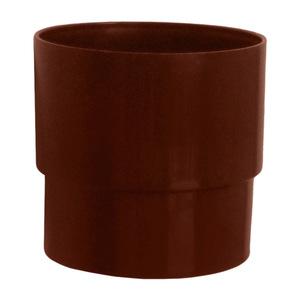 Муфта трубы Мурол, d=80, коричневая