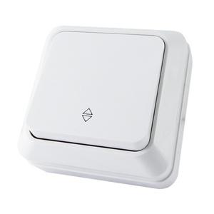 Переключатель о/у Ладога SQ1801-0005, 1 клавиша, 10А, 230В, IP20