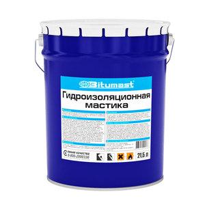 Мастика гидроизоляционная Битумаст, металлическое ведро, 21,5 л