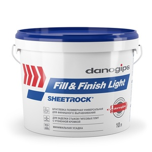 Шпаклевка готовая облегченная Danogips Fill&Finish Light 12 кг