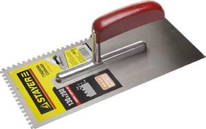 Гладилка штукатурная зубчатая стальная с деревянной ручкой STAYER 130х280 мм 6х6 мм