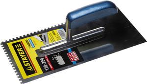 Гладилка штукатурная зубчатая нержавеющая с деревянной ручкой STAYER Profi 130х280 мм 8х8 мм