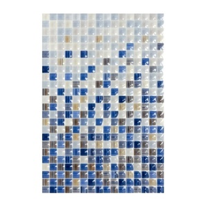 Плитка настенная 400х275х7,5 мм КЕРАМИН Гламур 2С микс голубая
