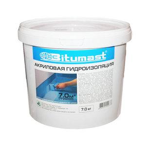 Гидроизоляция акриловая Битумаст, 7 кг