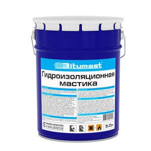 Мастика гидроизоляционная Битумаст, металлическое ведро, 5 л