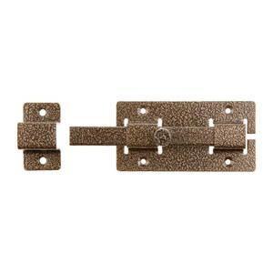 Задвижка дверная ЗД 06 накладная квадратный ригель бронза