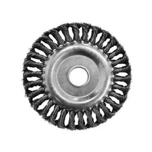 Щетка-крацовка Biber дисковая витая 175 мм с переходником