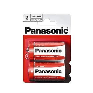 Элемент питания солевой Panasonic, тип BR20/D, 1,5В (уп. 2 шт)