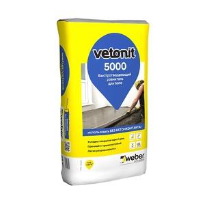 Ровнитель для пола Weber Vetonit быстродействующий 5000, 25 кг