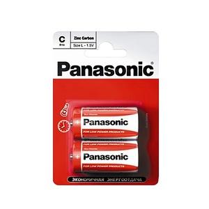 Элемент питания солевой Panasonic, тип BR14/С, 1,5В (уп. 2 шт