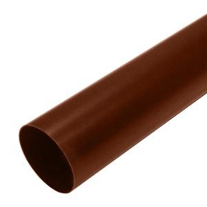 Труба водосточная Мурол, d=80, коричневая, 2 м