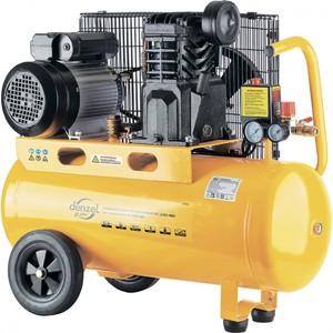 Масляный ременной компрессор 10 бар производительность 400 л/мин 2,3 кВт 220 В DENZEL PC 2/50-400 Х-PRO