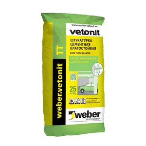 Штукатурка цементная Weber Vetonit ТТ, 25 кг