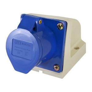 Розетка стационарная для открытой проводки TDM 123 2Р+РЕ 32A 230В IP44