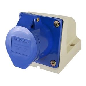 Розетка стационарная для открытой проводки TDM 113 2Р+РЕ 16A 230В IP44