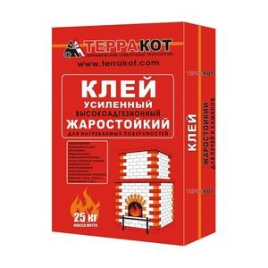 Клей для печной плитки жаростойкий Терракот, 25 к