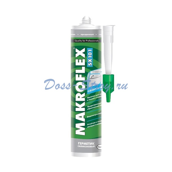 Герметик силиконовый Makroflex SX101 санитарный, белый (0,29 л)