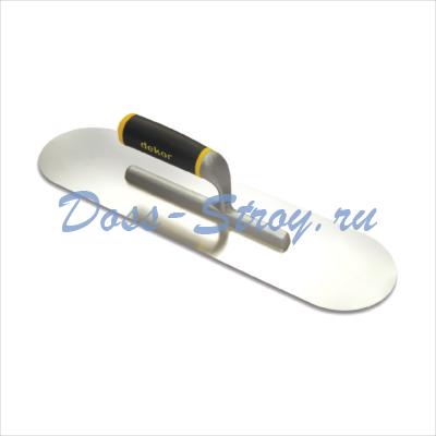 Малка для бассейнов DEKOR 120х450 мм нержавеющая сталь пластиковая ручка