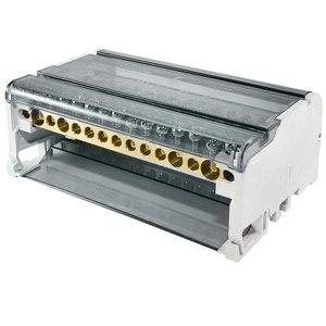 Блок модульный распределительный на DIN-рейку 125А, 4П (4x15)