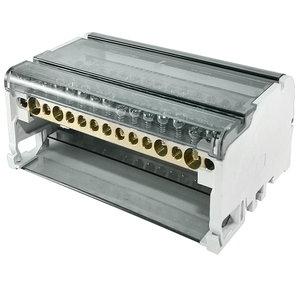 Блок модульный распределительный на DIN-рейку 125А, 4П (4x11)