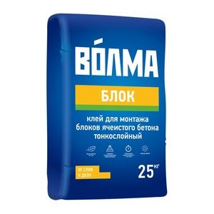 Клей для монтажа блоков ячеистого бетона Волма Блок, 25 кг