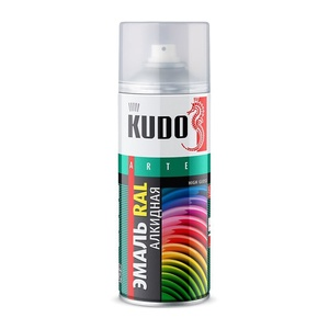Эмаль аэрозольная Kudo KU-09003 RAL 9003 сигнальный белый (0,52 л)