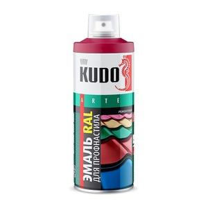 Эмаль аэрозольная Kudo KU-03003R RAL 3003 рубиново-красный (0,52 л)
