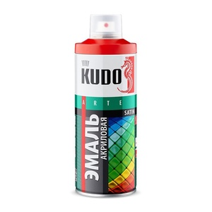 Эмаль аэрозольная Kudo KU-0A9005 satin RAL 9005 чёрная (0,52 л)