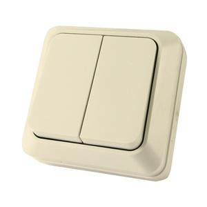 Выключатель о/у Ладога SQ1801-0004, 2 клавиши, 10А, 230В, IP20