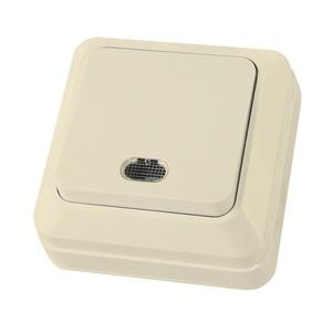 Выключатель о/у Ладога SQ1801-0010, 1 клавиша, 10А, 230В, IP20