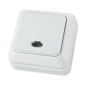 Выключатель о/у Ладога SQ1801-0009, 1 клавиша, 10А, 230В, IP20