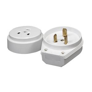 Разъем для плит TDM РШ-ВШ 32А 230В 2Р+РЕ о/у IP20 белый