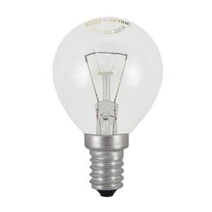Лампа накаливания Е14, шар, 40Вт, 230В, прозрачная