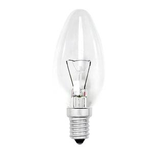 Лампа накаливания Е14, свеча, 40Вт, 230В, прозрачная