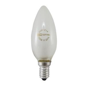 Лампа накаливания Е14, свеча, 60Вт, 230В, матовая
