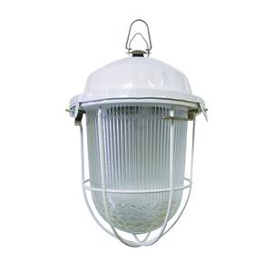 Светильник подвесной НСП 100Вт, 230В, Е27 с решеткой, стекло, крюк