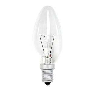 Лампа накаливания Е14, свеча, 60Вт, 230В, прозрачная