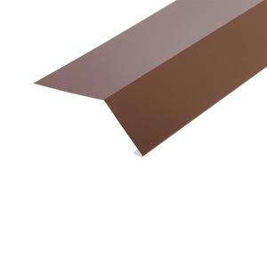 Планка карнизная для гибкой черепицы (RAL 8017) корич. шоколад (2 м)