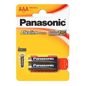 Элемент питания алкалиновый Panasonic, тип LR03/ААА, 1,5В (уп. 2 шт