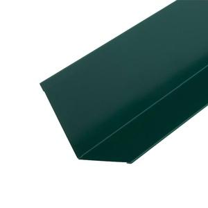 Планка примыкания для гибкой черепицы (RAL 6005) зеленый мох (2 м)