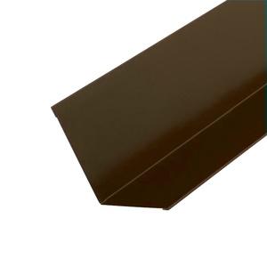 Планка примыкания для гибкой черепицы (RAL 8017) корич. шоколад (2 м)