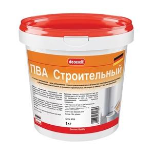 Клей ПВА Pufas Decoself cтроительный пластификатор (1 кг)