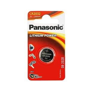 Элемент питания литиевый Panasonic, тип CR2032, таблетка, 3В, 220мА*ч
