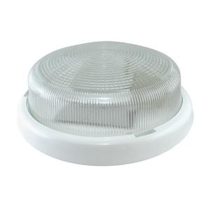 Светильник НПП Е27, 100Вт, 230В, IP44, круг без решетки, стекло