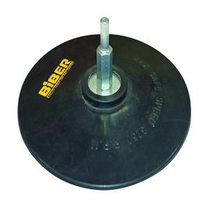 Диск опорный Biber 125 мм, резиновый с винтом