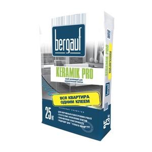 Клей усиленный для плитки Bergauf Keramik Pro, 25 кг
