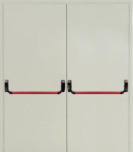 Двупольная глухая дверь Антипаника Push-bar EI 60 RAL 9018 06